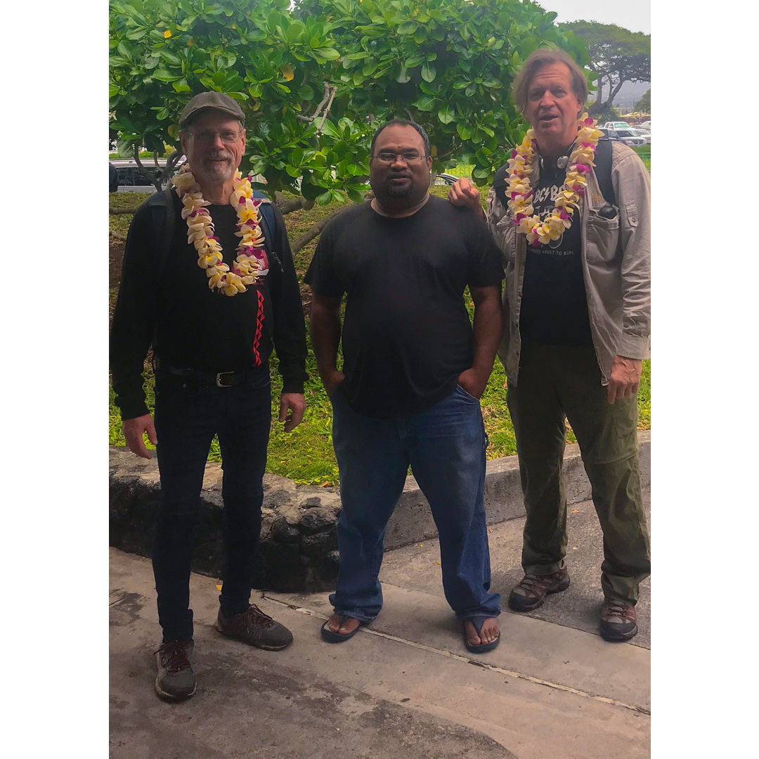 Cowden and Anderson arriving in Kona, HI