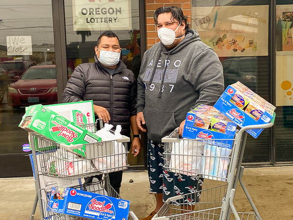 Food donations to community members hit by Covid-19 in Salem